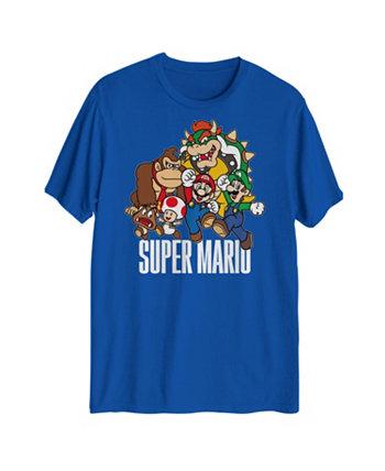 Мужская футболка с рисунком Super Mario Group Hybrid