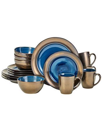 Набор столовой посуды Bisbee из 16 предметов, сервиз на 4 персоны Over and Back
