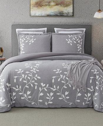 Комплект хлопкового одеяла с вышивкой Laurel Park Autumn Chain с вышивкой Cathay Home Inc.