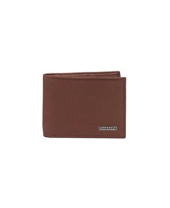 Кожаный складной кошелек RFID в подарочной коробке CHAMPS