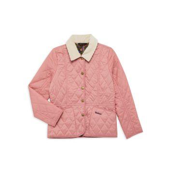Маленькая девочка & amp; Стеганая куртка для девочек Liddesdale Barbour