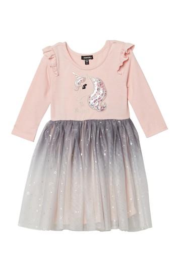 Платье с блестками с однотонной графикой (для малышей и маленьких девочек) Zunie