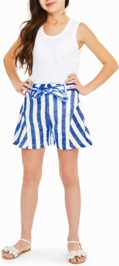 Полосатые шорты с завязками на талии Tegan Habitual