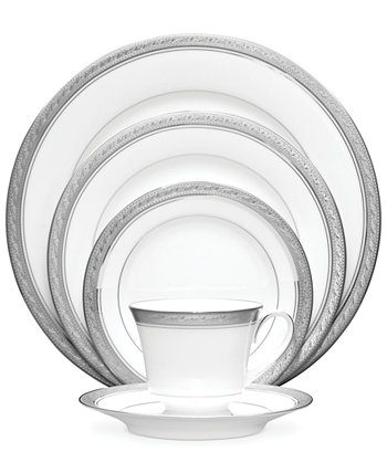 Посуда, Crestwood Platinum, 5 предметов, сервировка Noritake