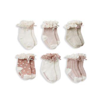 Элегантные детские носки для маленьких девочек, 6 пар. Elegant Baby