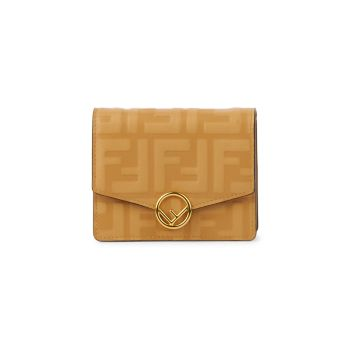 Small FF Leather Wallet-On-Chain FENDI