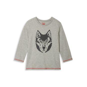 Маленькая девочка & amp; Топ с длинным рукавом Girl's Wolf Hatley