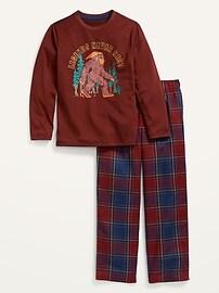 Пижама с нейтральным гендерным рисунком для детей Old Navy
