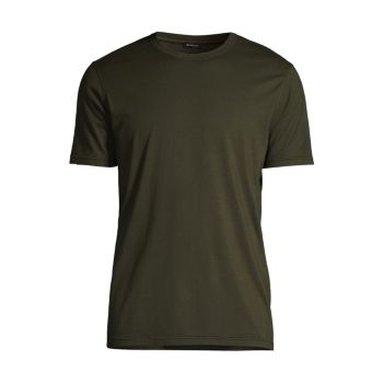 Хлопок классического кроя & amp; Кашемировая футболка Kiton