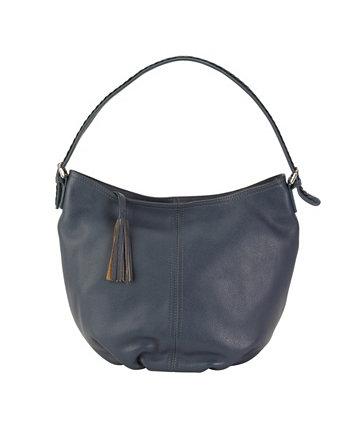 Кожаная сумка-хобо с напуском Hadaki Kalencom