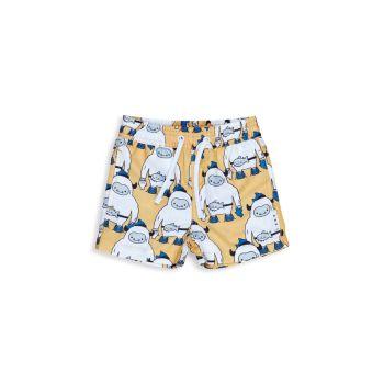Baby Boy's & amp; Плавательные шорты Little Boy's Staycation Yeti HUXBABY