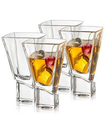 Бокалы для мартини Carre Square, набор из 4 шт. JoyJolt
