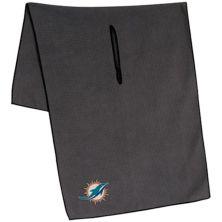 "Miami Dolphins 19"" x 41"" Gray Microfiber Towel Unbranded"