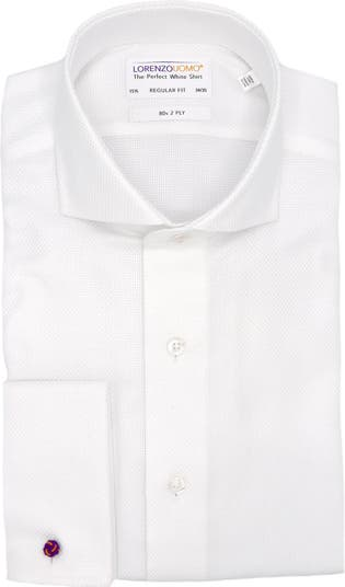 Классическая рубашка стандартного кроя с французскими манжетами из тканого плетения с французскими манжетами Lorenzo Uomo