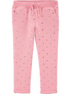 Флисовые брюки-джоггеры для маленьких девочек OshKosh B'gosh
