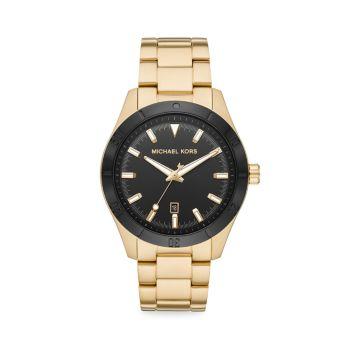 Часы Layton Goldtone из нержавеющей стали с браслетом Michael Kors