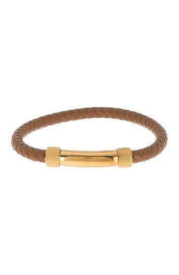 Плетеный кожаный браслет для мужчин English Laundry
