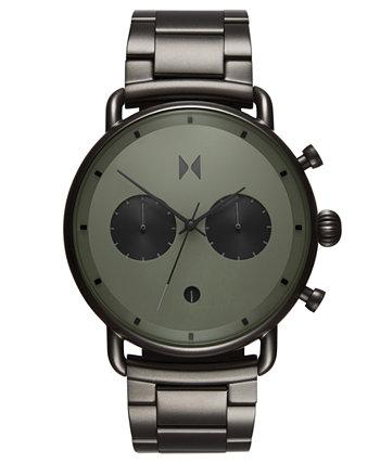 Часы с хронографом Blacktop Rallye Green Gunmetal из нержавеющей стали с браслетом 47 мм MVMT
