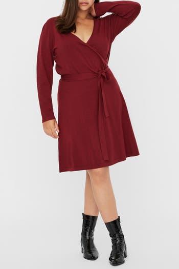Платье Kari с запахом и длинными рукавами VERO MODA