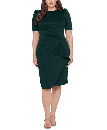 Облегающее платье больших размеров с драпировкой XSCAPE