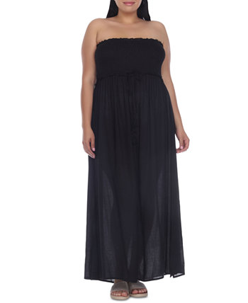 Платье-накидка большого размера со сборками Raviya