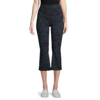 Расклешенные брюки-капри для йоги с камуфляжным принтом Rolldown Hard Tail