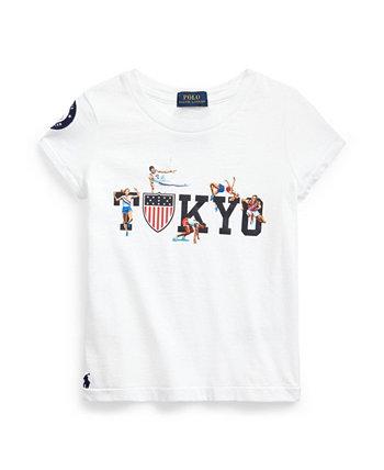 Big Girls Team USA Cotton T-shirt Ralph Lauren