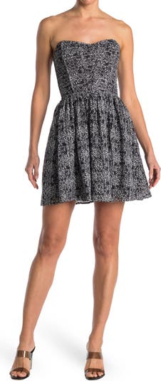 Lace Strapless Dress Parker