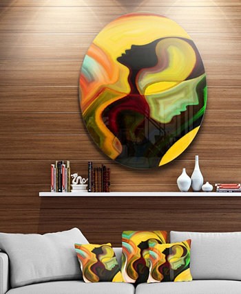"""Абстрактное произведение искусства из металла Designart 'Way Of Parenting' - 38 """"x 38"""" Design Art"""