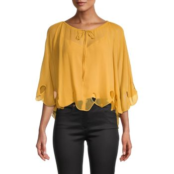 Batwing Eyelet Blouse See by Chloe