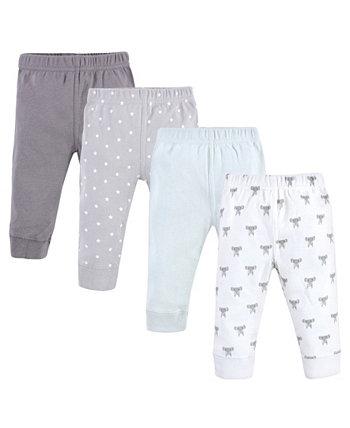 Хлопковые брюки и леггинсы для девочек и мальчиков, 4 шт. В упаковке Hudson Baby
