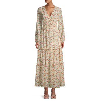 Макси-платье с цветочным принтом LOST + WANDER