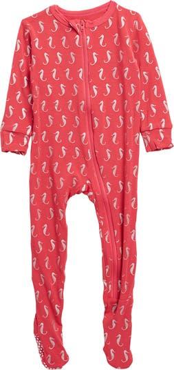 Printed Zipper Footie KicKee Pants