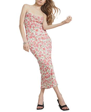 Alexa Lace-Up-Back Slip Dress Bardot