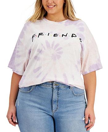 Модная хлопковая футболка больших размеров с принтом «Друзья» с принтом галстука Love Tribe