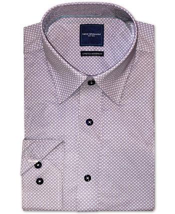 Мужская модная рубашка в строгом стиле с геометрическим принтом Nick Graham