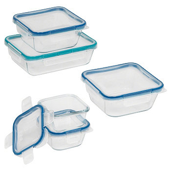 10 шт. Набор для приготовления стеклянной еды Snapware