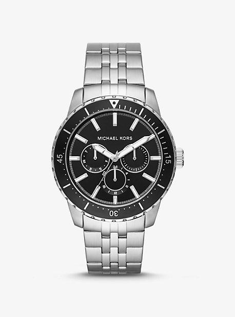 Крупногабаритные часы Cunningham в серебристом цвете Michael Kors