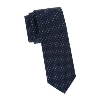 Узкий шелковый галстук с ромбовидной вышивкой Hugo Hugo Boss
