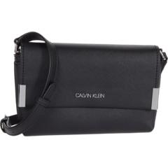Сумка через плечо из сафьяновой кожи с клапаном Key Item Calvin Klein