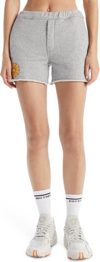 The Quickie Fray Hem Cotton Roller Shorts MOTHER