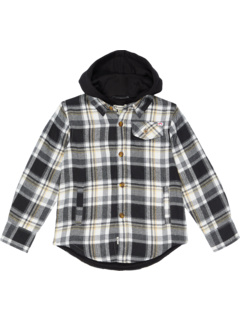 Glen Hooded Plaid Flannel w/ Sweatshirt (Toddler/Little Kids/Big Kids) Appaman Kids