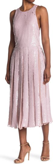 Шелковое платье миди с блестками Eclair Tibi