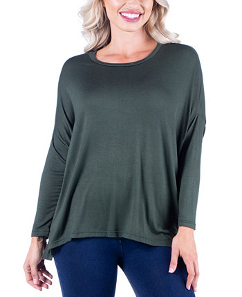 Женская футболка оверсайз с длинным рукавом с длинным рукавом 24seven Comfort Apparel