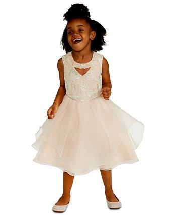 Платье для маленьких девочек с вышивкой пайетками Rare Editions