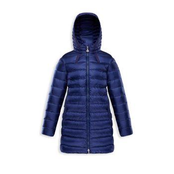 Маленькая девочка & amp; Пуховое пуховое пальто А-силуэта для девочек Jacinte Moncler