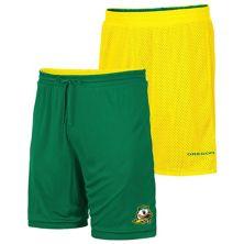 Men's Colosseum Yellow/Green Oregon Ducks Wiggum Reversible Logo Shorts Colosseum