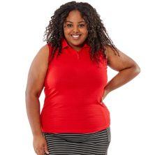 Рубашка-поло большого размера без рукавов Nancy Lopez Journey Nancy Lopez