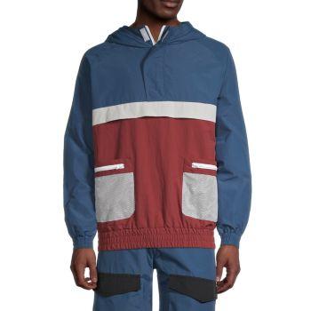 Куртка-ветровка с цветными блоками American Stitch
