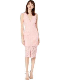 Кружевное платье с лямкой на шее Bardot